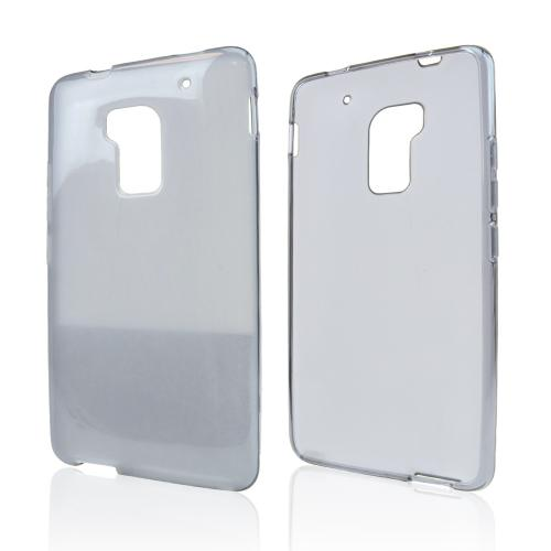 Smoke Crystal Silicone Skin Case for HTC One Max