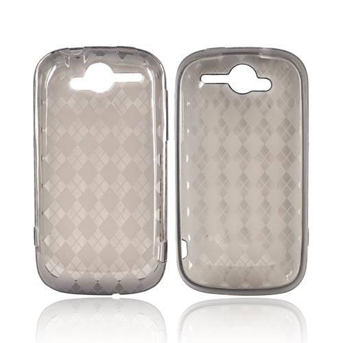 T-Mobile MyTouch 4G Crystal Silicone Case - Argyle Transparent Smoke