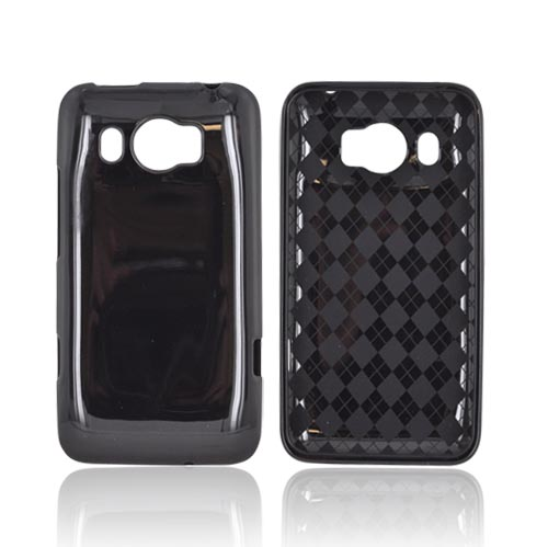 HTC Titan 2 Crystal Silicone Case - Argyle Black
