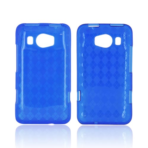 HTC Titan 2 Crystal Silicone Case - Argyle Blue