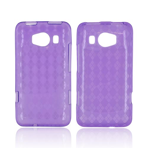 HTC Titan 2 Crystal Silicone Case - Argyle Purple