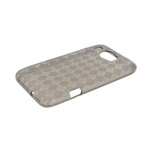 HTC Titan 2 Crystal Silicone Case - Argyle Smoke