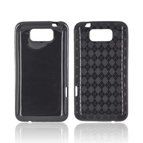 HTC Titan Crystal Silicone Case - Black (Argyle Interior)