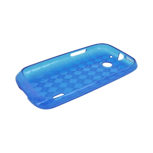 AT&T Fusion U8652 Crystal Silicone Case - Argyle Blue