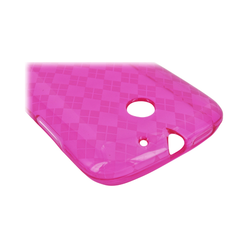 AT&T Fusion U8652 Crystal Silicone Case - Argyle Hot Pink