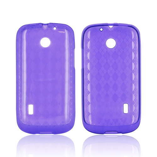 AT&T Fusion U8652 Crystal Silicone Case - Argyle Purple