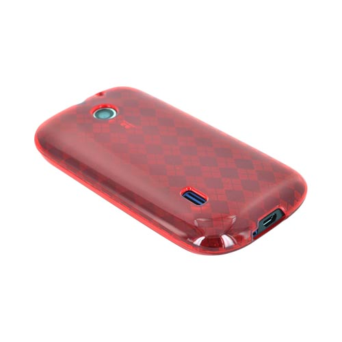 AT&T Fusion U8652 Crystal Silicone Case - Argyle Red