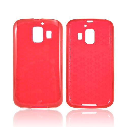 AT&T Fusion 2 U8665 Crystal Silicone Case - Argyle Red