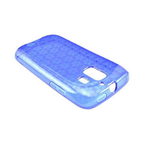 AT&T Fusion 2 U8665 Crystal Silicone Case - Blue Hex Star