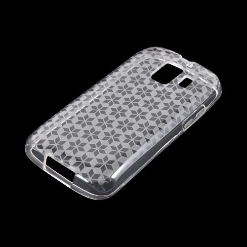 AT&T Fusion 2 U8665 Crystal Silicone Case - Clear Hex Star