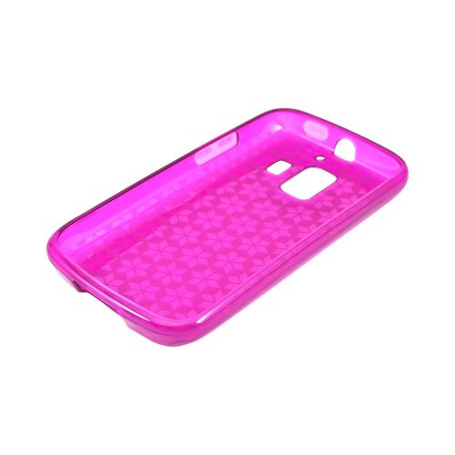 AT&T Fusion 2 U8665 Crystal Silicone Case - Purple Hex Star