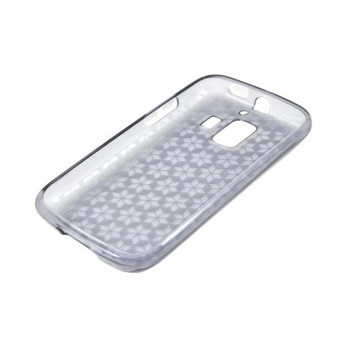 AT&T Fusion 2 U8665 Crystal Silicone Case - Smoke Hex Star