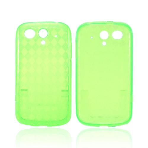 T-Mobile Huawei myTouch 2 Crystal Silicone Case - Argyle Green