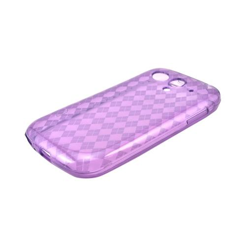 T-Mobile Huawei myTouch 2 Crystal Silicone Case - Argyle Purple