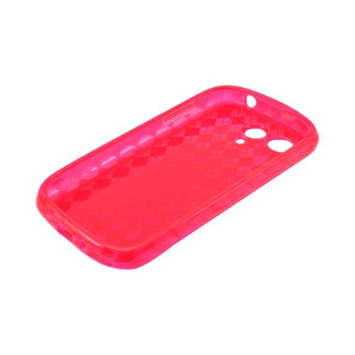 T-Mobile Huawei myTouch 2 Crystal Silicone Case - Argyle Red
