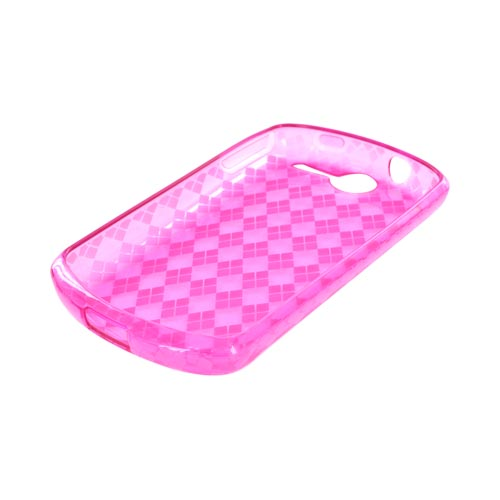 AT&T Impulse 4G Crystal Silicone Case - Argyle Hot Pink