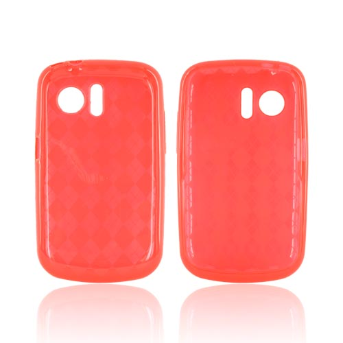 Huawei Pinnacle M635 Crystal Silicone Case - Argyle Red