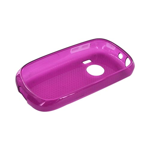 Huawei M835 Crystal Silicone Case - Airplane Print on Magenta