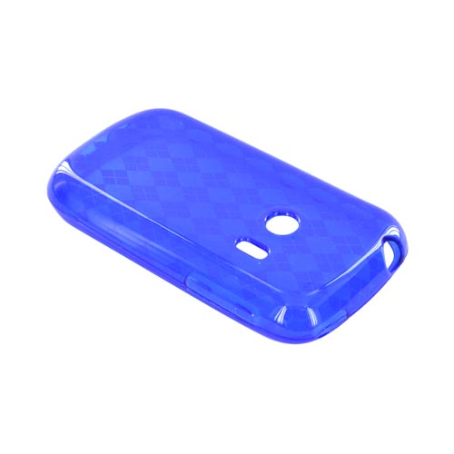 Huawei Comet M835 Crystal Silicone Case - Argyle Blue
