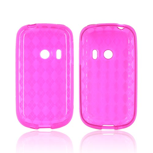 Huawei Comet M835 Crystal Silicone Case - Argyle Hot Pink