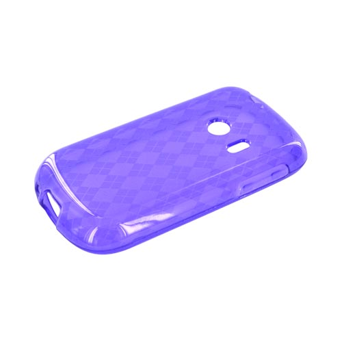 Huawei Comet M835 Crystal Silicone Case - Argyle Purple