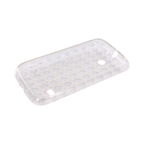 Huawei Ascend 2 M865 Crystal Silicone Case - Argyle Clear