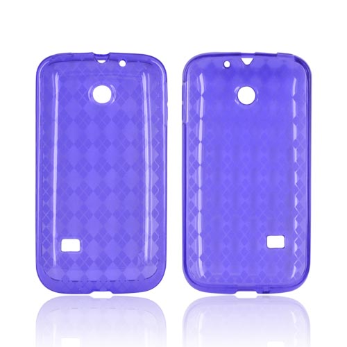 Huawei Ascend 2 M865 Crystal Silicone Case - Argyle Purple