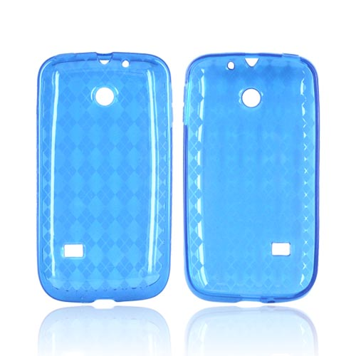 Huawei Ascend 2 M865 Crystal Silicone Case - Argyle Turquoise