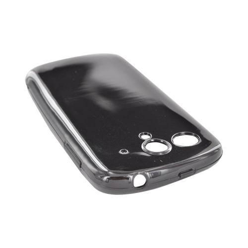 T-Mobile Huawei myTouch Q Crystal Silicone Case - Black w/ Argyle Interior