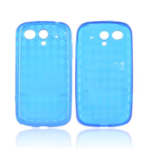 T-Mobile Huawei myTouch Q Crystal Silicone Case - Argyle Blue