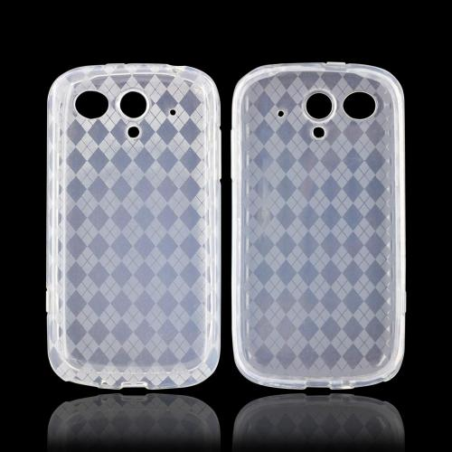 T-Mobile Huawei myTouch Q Crystal Silicone Case - Argyle Clear