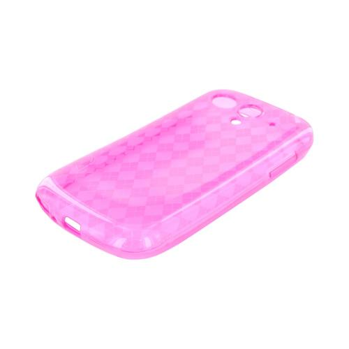 T-Mobile Huawei myTouch Q Crystal Silicone Case - Argyle Hot Pink