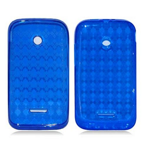 Argyle Blue Crystal Silicone Skin Case for T-Mobile Prism 2