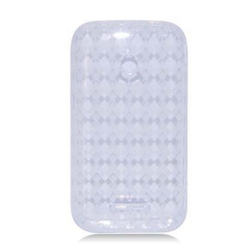 Argyle Clear Crystal Silicone Skin Case for T-Mobile Prism 2