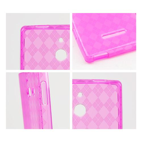 Argyle Hot Pink Crystal Silicone Skin Case for T-Mobile Prism 2