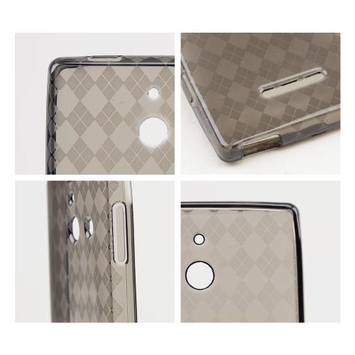 Argyle Smoke Crystal Silicone Skin Case for T-Mobile Prism 2