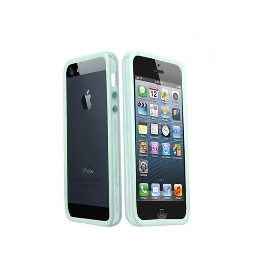Apple iPhone 5/5S Crystal Silicone Bumper - White/ Frost White
