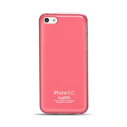 Baby Pink Anti-Slip TPU Crystal Silicone Skin Case & Free Screen Protector for Apple iPhone 5C - XXIP5C