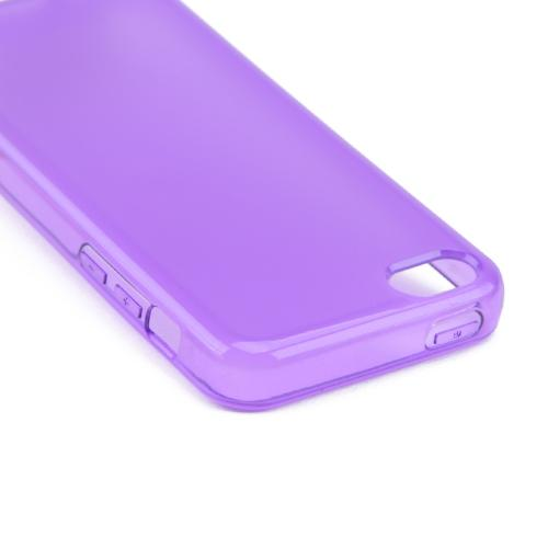 Purple/ Frost Crystal Silicone Skin Case for Apple iPhone 5C