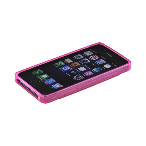Apple iPhone 5/5S Crystal Silicone Case - Hot Pink Cassette