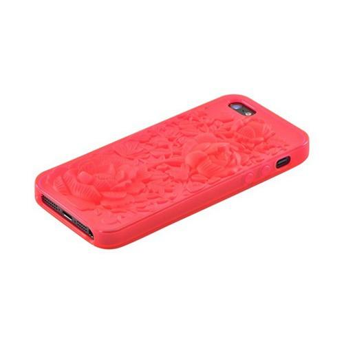 Apple iPhone 5/5S Crystal Silicone Case - Red Roses
