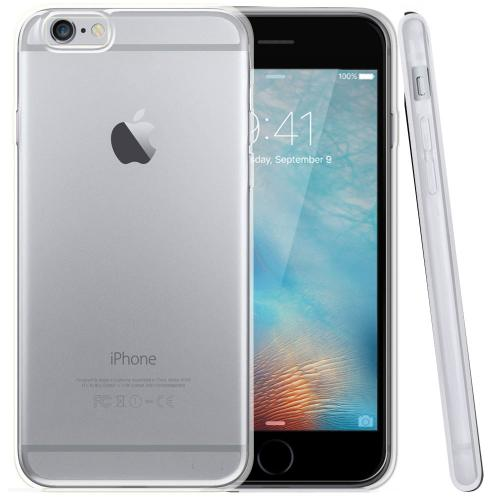 Apple iPhone 6/ 6S Case, [Clear / Frost] Slim & Flexible Anti-shock Crystal Silicone Protective TPU Gel Skin Case Cover