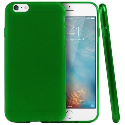 "Neon Green / Frost Apple iPhone 6 (4.7"") Flexible Crystal Silicone TPU Case - Conforms To Your Phone Without Stretching Out!"