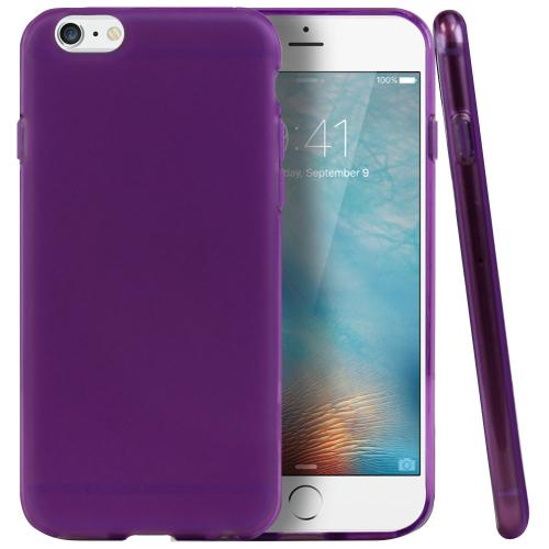 Apple iPhone 6/ 6S Case, REDshield [Purple/ Frost] Slim & Flexible Anti-shock Crystal Silicone Protective TPU Gel Skin Case Cover