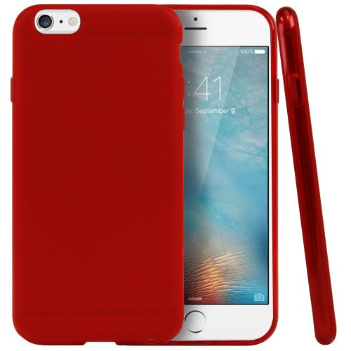 Apple iPhone 6/ 6S Case, REDshield [Red / Frost] Slim & Flexible Anti-shock Crystal Silicone Protective TPU Gel Skin Case Cover