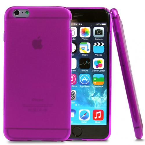 Hot Pink/ Frost Flexible Crystal Silicone TPU Case Made for Apple iPhone 6 Plus (5.5 Inch) - Conforms To Your Phone Without Stretching Out!