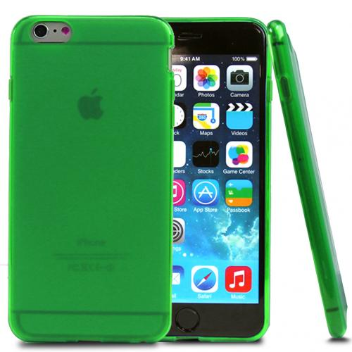 Neon Green/ Frost Flexible Crystal Silicone TPU Case Made for Apple iPhone 6 Plus (5.5 Inch)- Conforms To Your Phone Without Stretching Out!