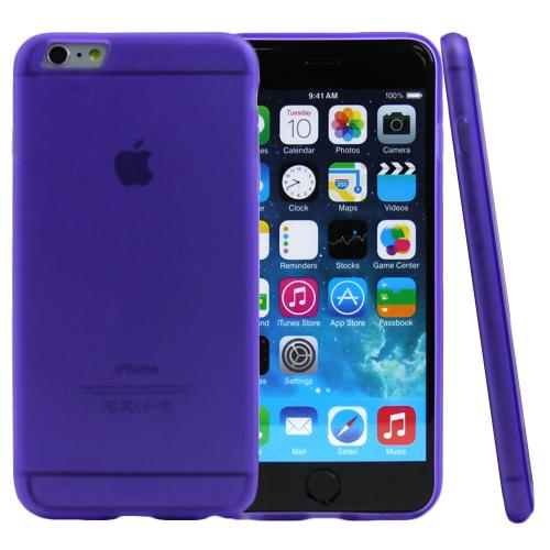 Apple iPhone 6 PLUS/6S PLUS (5.5 inch) Case,  [Purple/ Frost]  Slim & Flexible Anti-shock Crystal Silicone Protective TPU Gel Skin Case Cover