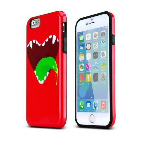 Apple iPhone 6/ 6S Case,  [Red] Happy Monster Slim & Flexible Anti-shock Crystal Silicone Protective TPU Gel Skin Case Cover