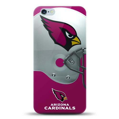 [MIZCO] Apple iPhone 6/6S (4.7 inch) Case, Helmet Series NFL Licensed [Arizona Cardinals] Slim & Flexible Anti-shock Crystal Silicone Protective TPU Gel Skin Case Cover